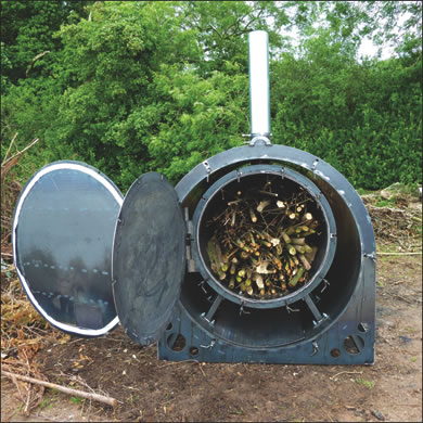 The Exeter Biochar Retort The Cleaner And More Efficient